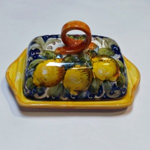 Toscana Volute Butter Dish - Italian Pottery Outlet