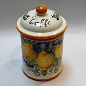 Toscana Volute Caffe Canister - Italian Pottery Outlet