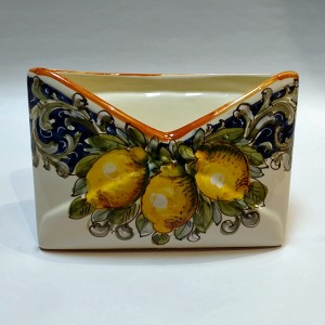 Toscana Volute Mail Holder - Italian Pottery Outlet