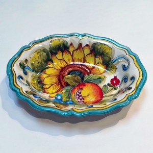 San Lorenzo Fluted Oval Bowl - Italian Pottery Outlet