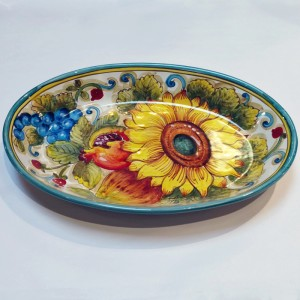 San Lorenzo Deep Oval Dish - Italian Pottery Outlet