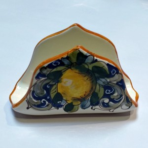Toscana Volute Napkin Holder - Italian Pottery Outlet