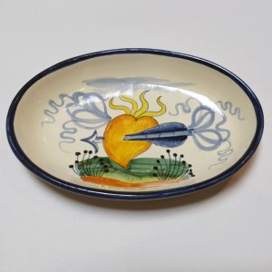 Toscana Cuore Oval Dish - Italian Pottery Outlet