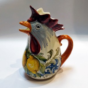 Toscana Volute Rooster Pitcher - Italian Pottery Outlet