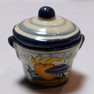Toscana Cuore Salt Jar - Italian Pottery Outlet