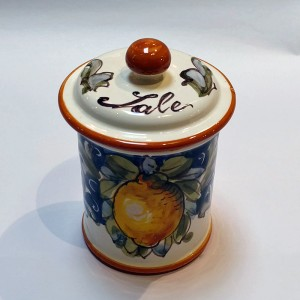 Volute Salt Canister - Italian Pottery Outlet