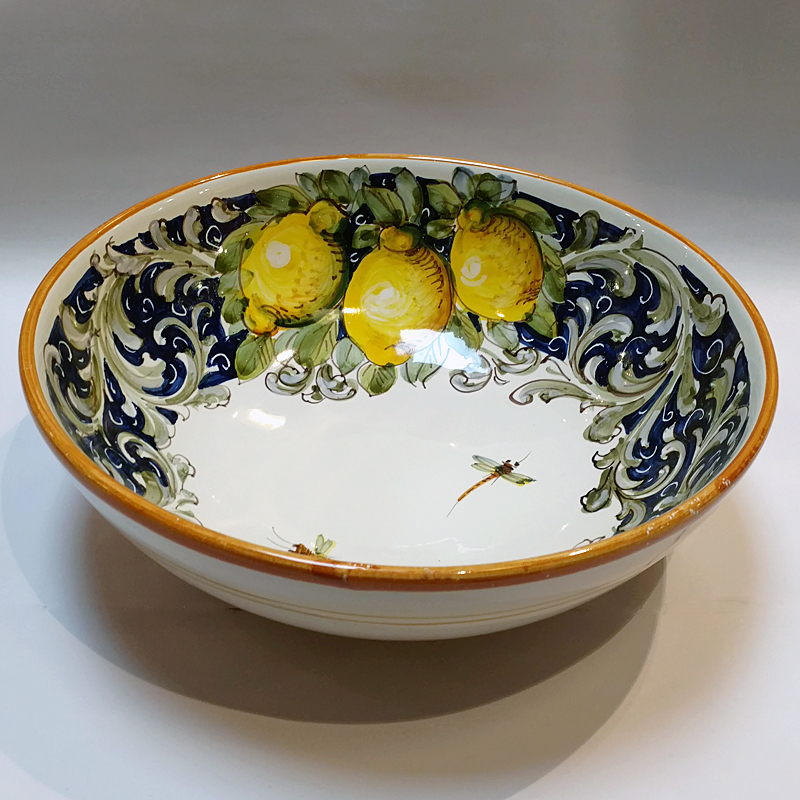 Toscana Volute Serving Bowl Italian Pottery Outlet