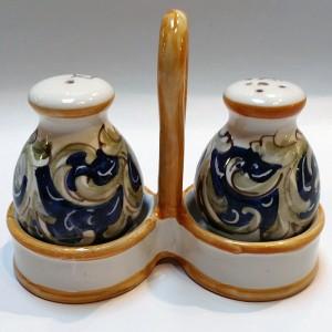 Volute Salt & Pepper Set - Italian Pottery Outlet