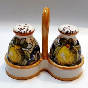 Toscana Volute Salt and Pepper Shakers - Italian Pottery Outlet