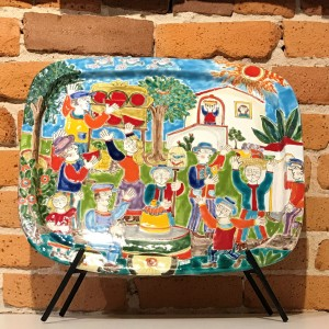 Susanna De Simone Rounded Rectangular Platter - Italian Pottery Outlet