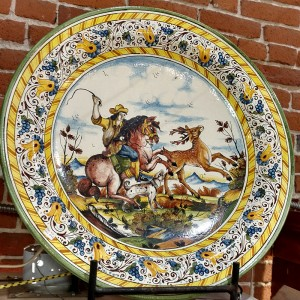 Il Cacciatore Platter - Italian Pottery Outlet
