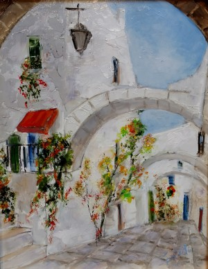Old Town Near Sorrento by Ben Spalluto at Italian Pottery Outlet