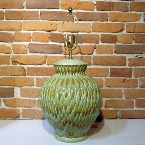 Handmade and hand glazed just outside of Florence, Italy, this lamp is an incredible textural addition to your mid-century modern home.