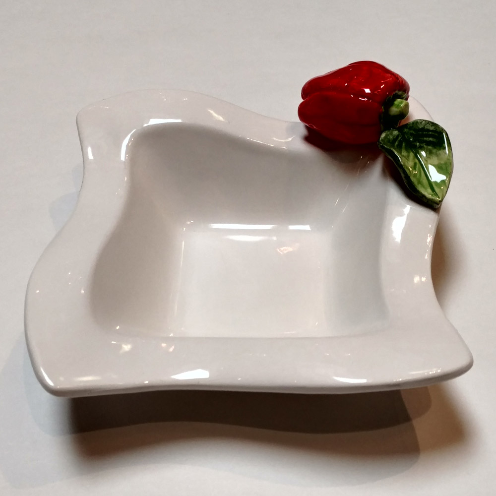Small Square Pottery Dish