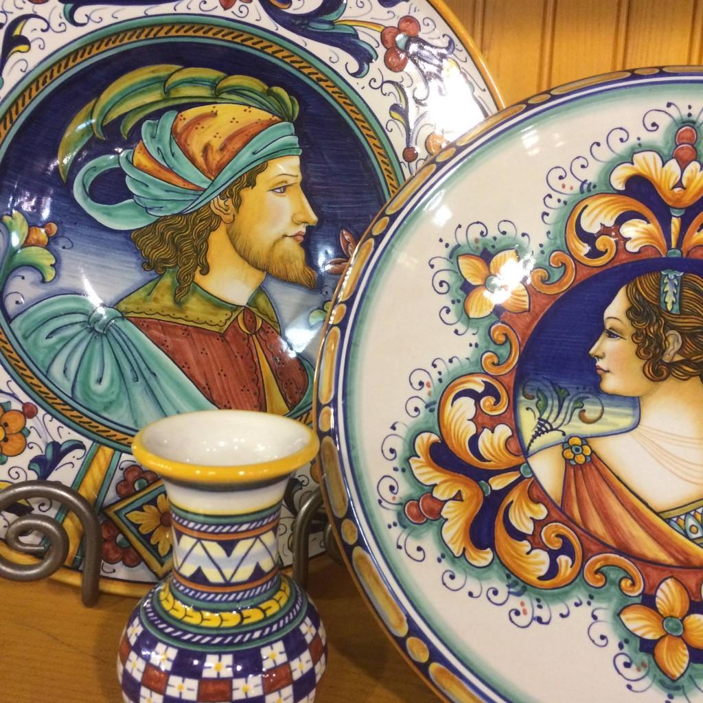 Italian Portrait Plates \u2013 Hand Painted in Deruta  sc 1 st  Italian Pottery Outlet & Italian Portrait Plates - Hand Painted in Deruta - Italian Pottery ...