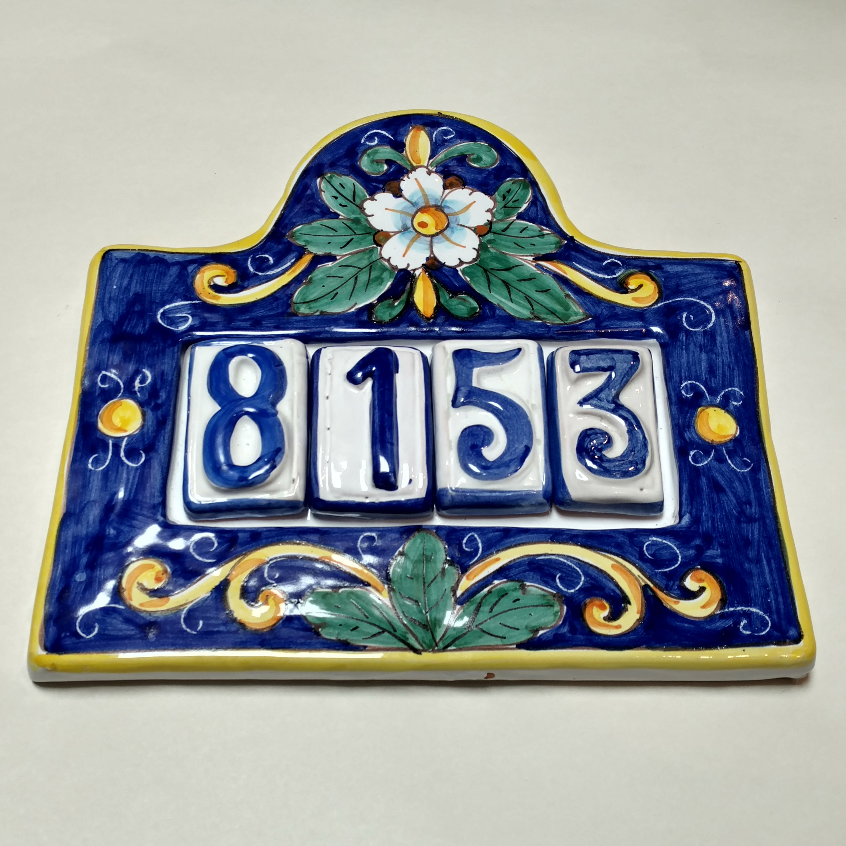 House number plaque for four italian pottery outlet dailygadgetfo Images