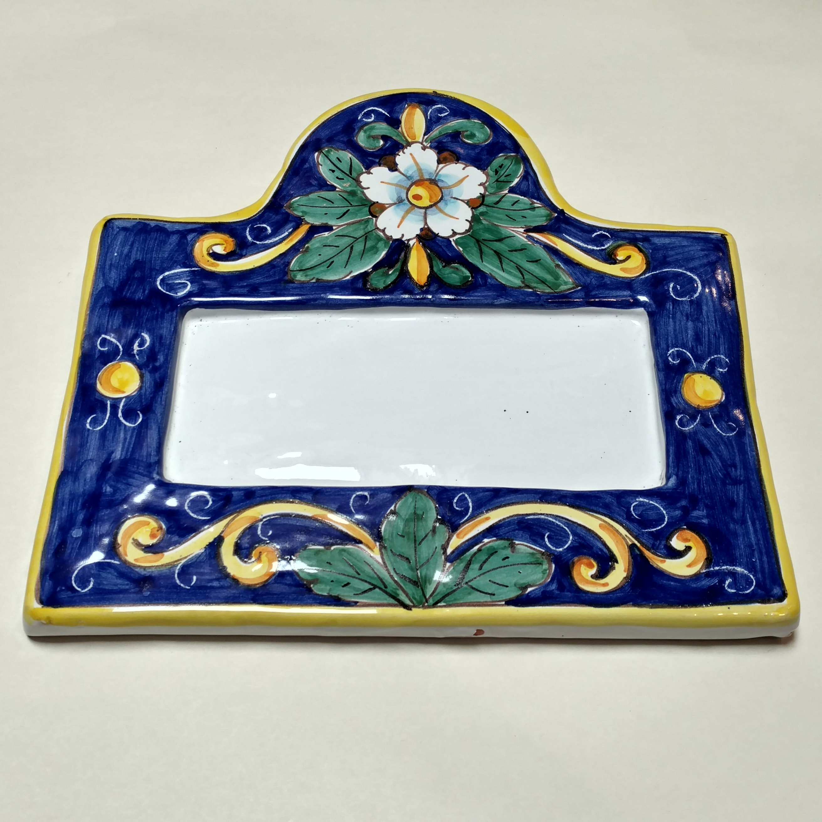 House number plaque for four italian pottery outlet sale dailygadgetfo Images