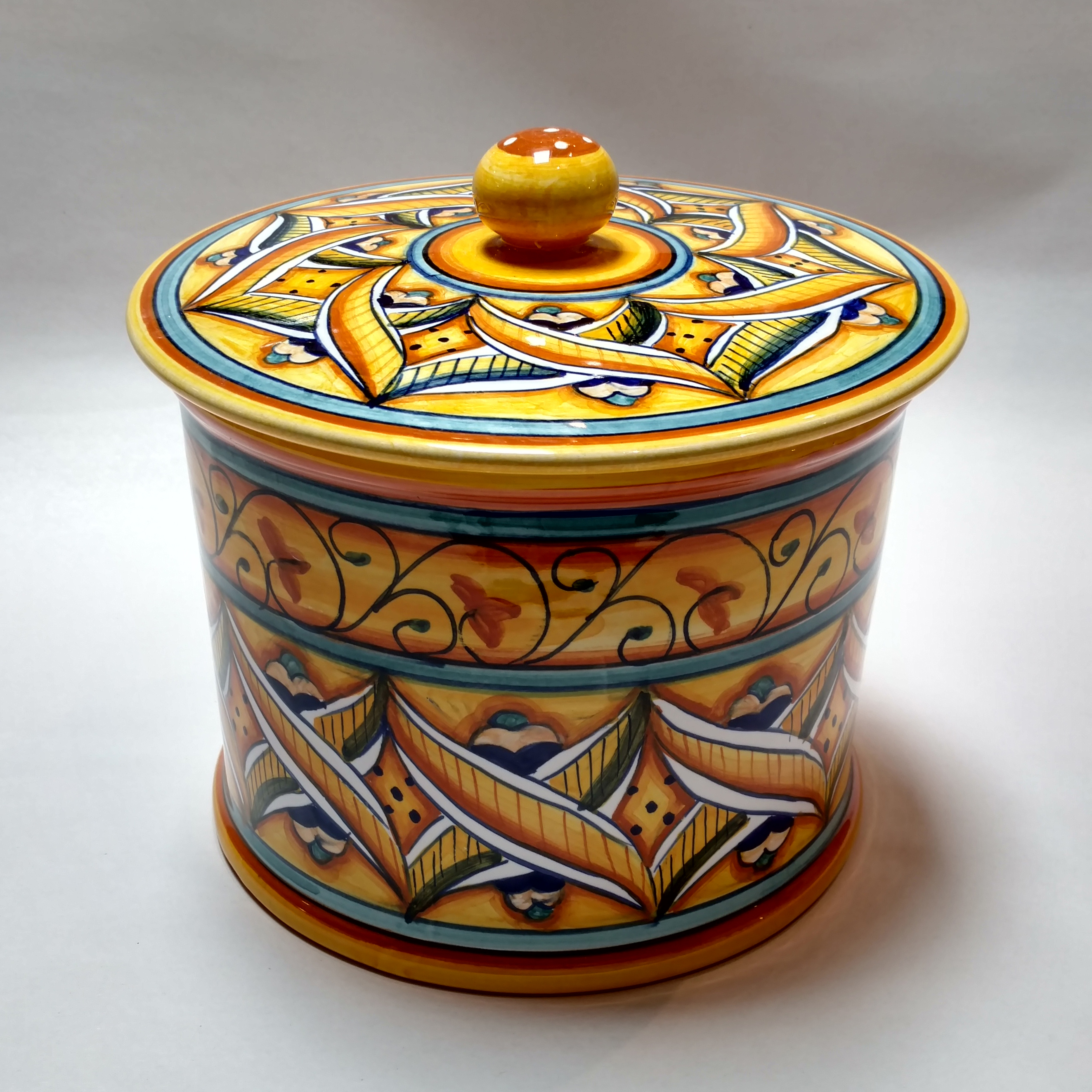 nice Ceramic Biscotti Jar Part - 12: Sale! ; 